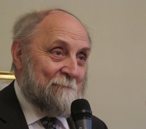 Hedersordförande Kjell Fredriksson vid Gustaf Fröding-sällskapets årsmöte 2012